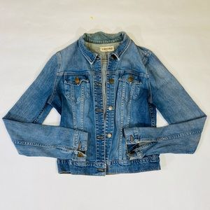Jbrand medium wash denim jacket size M